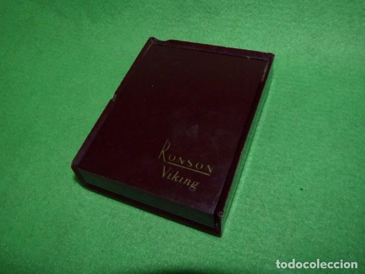 Mecheros: Elegante encendedor RONSON VIKING mechero vintage años 50 caja funda original colección - Foto 14 - 214577935