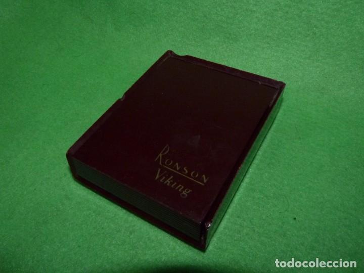 Mecheros: Elegante encendedor RONSON VIKING mechero vintage años 50 caja funda original colección - Foto 16 - 214577935
