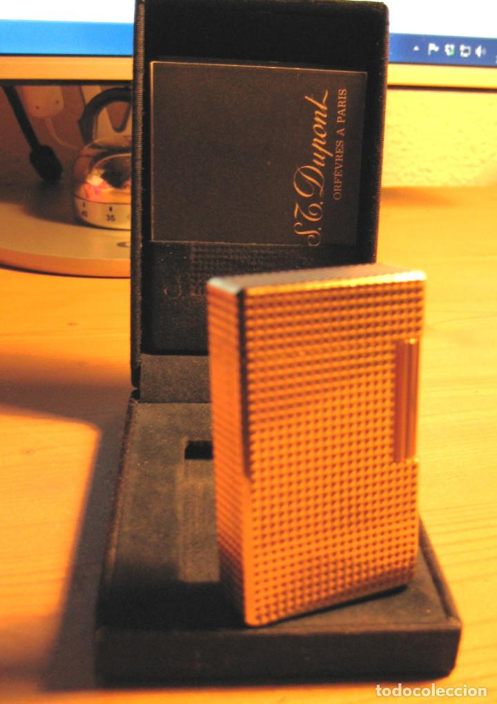 MECHERO DUPONT ORO 20 MICR PUNTA DIAMANTE- FRANCE- COMPLETO- (Coleccionismo - Objetos para Fumar - Mecheros)