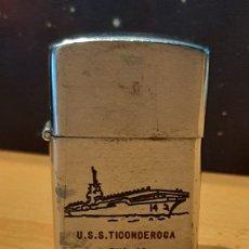 Mecheros: MECHERO BETA ONE U.S.S TICOMDEROGA CVA-14. Lote 219145661