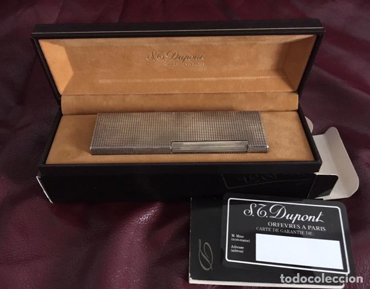MECHERO DUPONT MADE IN FRANCE ST DUPONT O TAMBIÉN CONOCIDO COMO SIMON TISSOT-DUPONT ESTUCHE ORIGINAL (Coleccionismo - Objetos para Fumar - Mecheros)