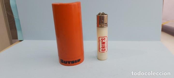 ANTIGUO MECHERO CLIPER REGULABLE CON FUNDA GRINS (Coleccionismo - Objetos para Fumar - Mecheros)