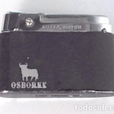 Mecheros: MECHERO, ENCENDEDOR SILVER MATCH CON PUBLICIDAD DE OSBORNE, FUNCIONA. Lote 233207730