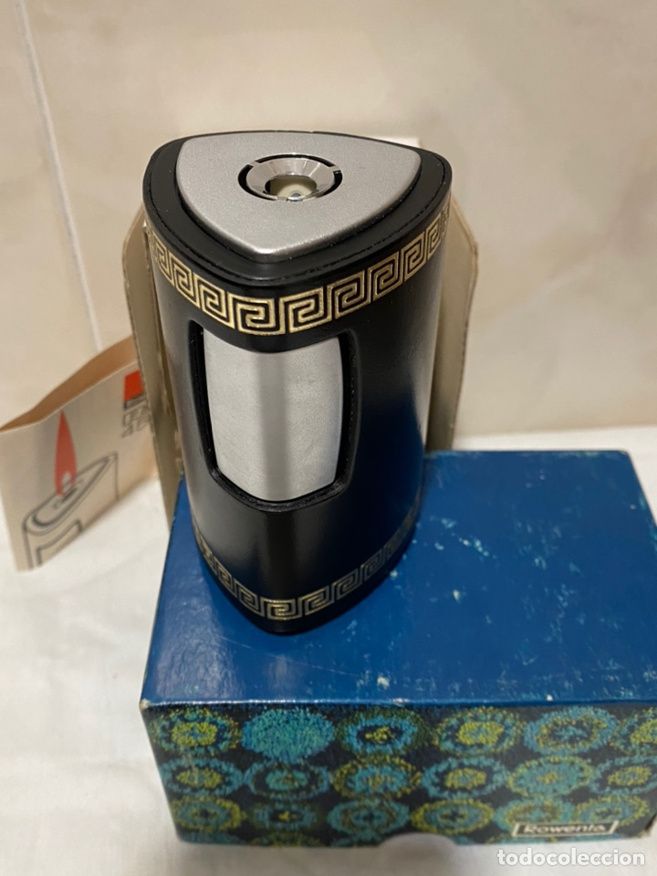 Mecheros: Antiguo merchero de sobremesa rowenta con caja original -móndelo ro456 - Foto 7 - 234419955