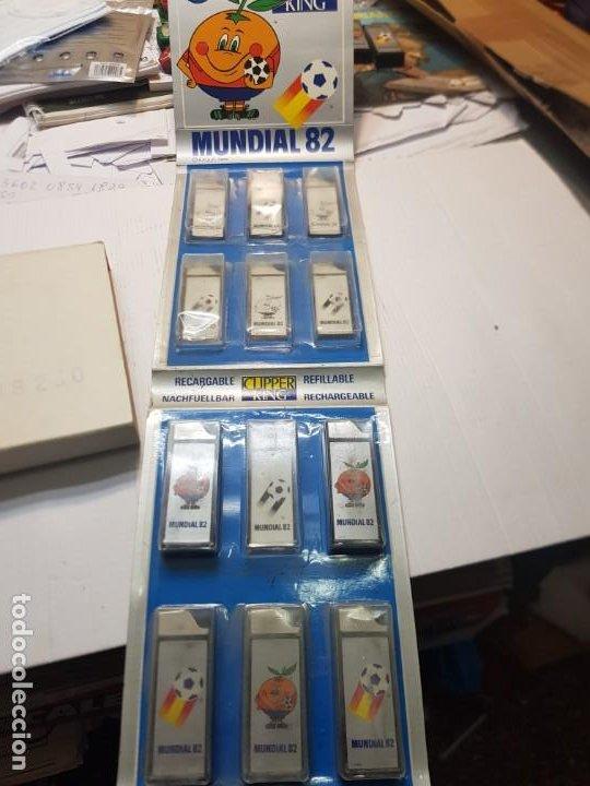 MECHEROS CLIPPER KING MUNDIAL ESPAÑA 82 LOTE 5 EN BLISTER (Coleccionismo - Objetos para Fumar - Mecheros)