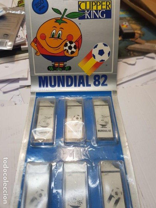 Mecheros: Mecheros Clipper King Mundial España 82 lote 5 en blister - Foto 2 - 235406930