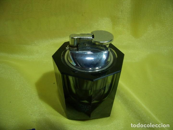 Mecheros: Mechero encendedor cristal, años 70, Nuevo sin usar. - Foto 2 - 247373195
