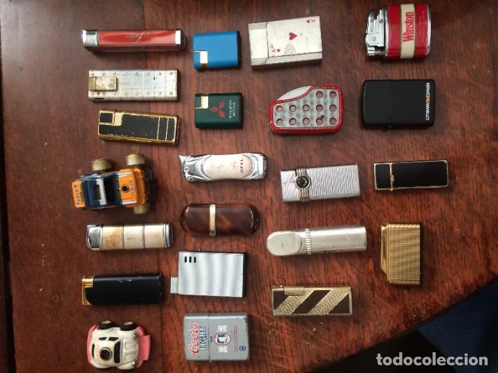 LOTE DE 22 MECHEROS IDEAL REVENTA (Coleccionismo - Objetos para Fumar - Mecheros)