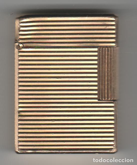 ENCENDEDOR-MECHERO-DUPONT-PARIS- CHAPADO EN ORO (Coleccionismo - Objetos para Fumar - Mecheros)