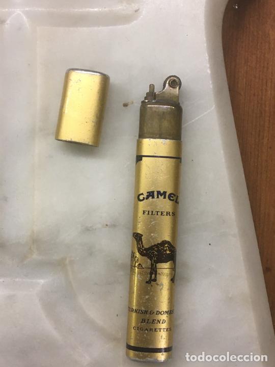 Mecheros: Mechero publicitario cigarrillos Camel filters, metálico, mide 8 cms. lleva piedra, no tiene gas. - Foto 6 - 254306075
