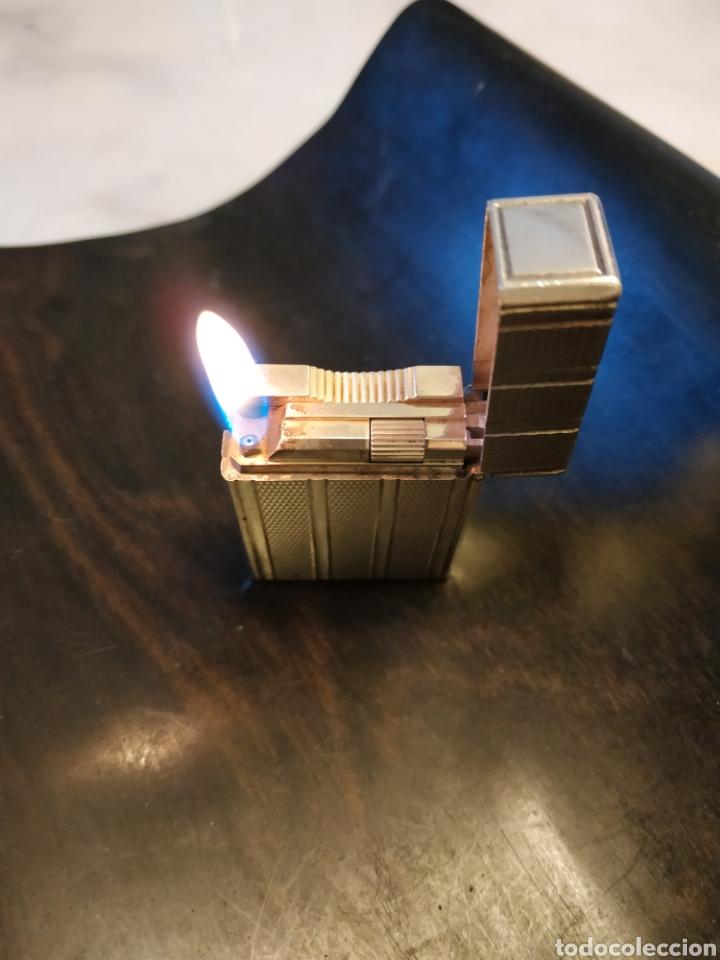 Mecheros: encendedor dupont de plata impecable - Foto 2 - 254333905