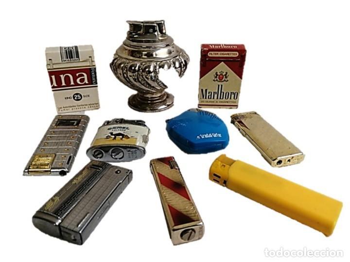 COLECCION 10 MECHEROS AÑOS 60/70 (Coleccionismo - Objetos para Fumar - Mecheros)