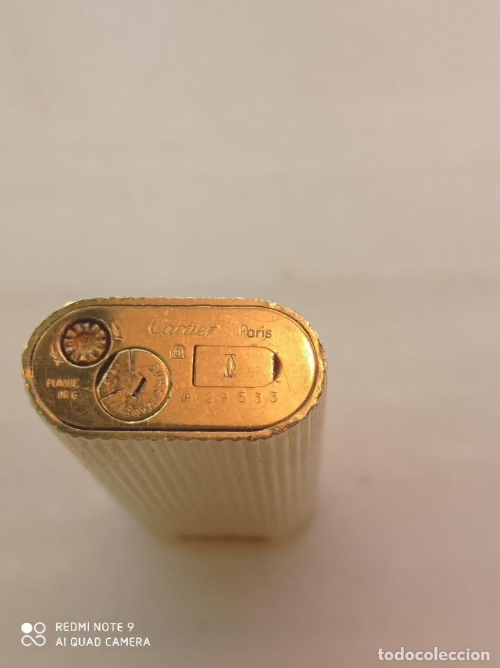 Mecheros: Antiguo encendedor Cartier chapado en oro - Foto 4 - 262429440