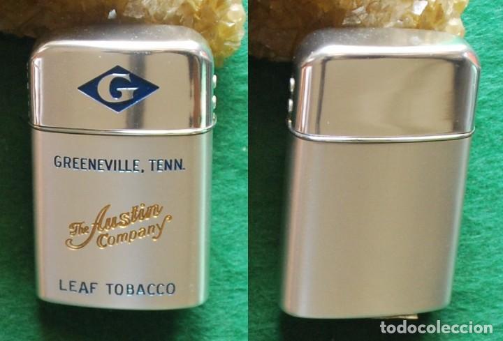 ENCENDEDOR VINTAGE RONSON TYPHOON - PUBLICIDAD: THE AUSTIN COMPANY (Coleccionismo - Objetos para Fumar - Mecheros)