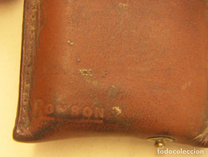 Mecheros: Antigua funda de cuero para mechero Ronson - Foto 3 - 263546510