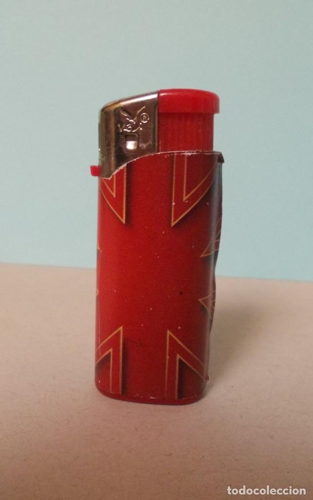 MECHERO BANDERA INGLESA (Coleccionismo - Objetos para Fumar - Mecheros)