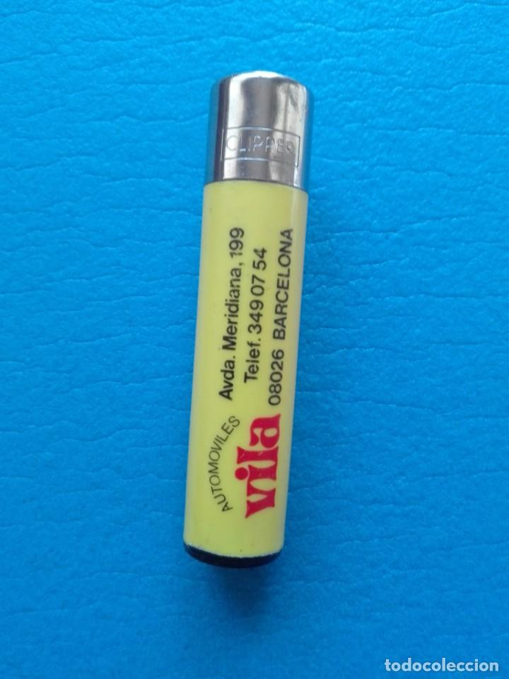 MECHERO CLIPPER PUBLICIDAD AUTOMOVILES VILA (USADO - FUNCIONA) (Coleccionismo - Objetos para Fumar - Mecheros)