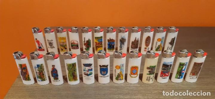LOTE DE 24 MECHEROS BIC REGULABLES CIUDADELAS (Coleccionismo - Objetos para Fumar - Mecheros)