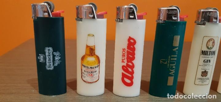 Mecheros: Lote de 8 mecheros publicidad tabaco cerveza las etc - Foto 3 - 287236333