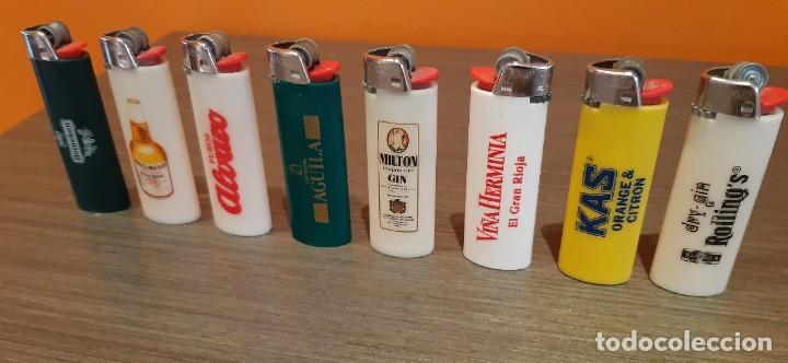 Mecheros: Lote de 8 mecheros publicidad tabaco cerveza las etc - Foto 4 - 287236333