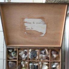 Coleccionismo de minerales: ANTIGUA COLECCION DE MINERALES EN SU CAJA, MEDIDAS CAJA 36 X 26 X 7,5 CM.. Lote 26874091