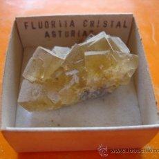 Coleccionismo de minerales: MINERAL FLUORITA CRISTAL ORIGEN ASTURIAS .. Lote 28731428