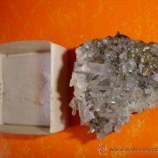 Coleccionismo de minerales: MINERAL CUARZO CALCOPIRITA ORIGEN PERU .. Lote 28732921