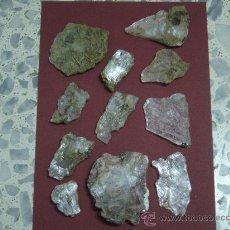 Coleccionismo de minerales: MINERAL. YESO. 11 UNIDADES, DIVERSAS FASES DE CRISTALIZACION...BUENOS EJEMPLARES. Lote 29618106