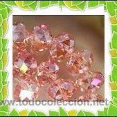 Coleccionismo de minerales: ABALORIOS - LOTE 40 CRISTALES DE SWAROVSKI - GEMAS 3X4MM - COLOR ROSA. Lote 228005480