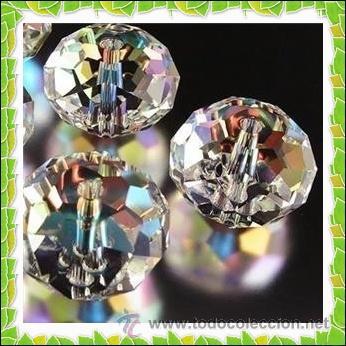 ABALORIOS - LOTE 40 CRISTALES DE SWAROVSKI AB - GEMAS 3X4MM. (Coleccionismo - Mineralogía - Otros)