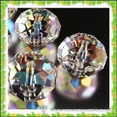 Coleccionismo de minerales: ABALORIOS - LOTE 40 CRISTALES DE SWAROVSKI AB - GEMAS 3X4MM.. Lote 57483648