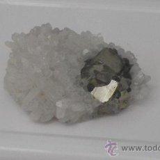 Coleccionismo de minerales: PIRITAS EN AGRUPACION DE CUARZOS.. Lote 32799861