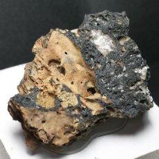 Coleccionismo de minerales: *** BONITO LAPILLI NEGRO, LAVA DE VOLCÁN (TENERIFE, ISLAS CANARIAS) 4X4 ***. Lote 39032704