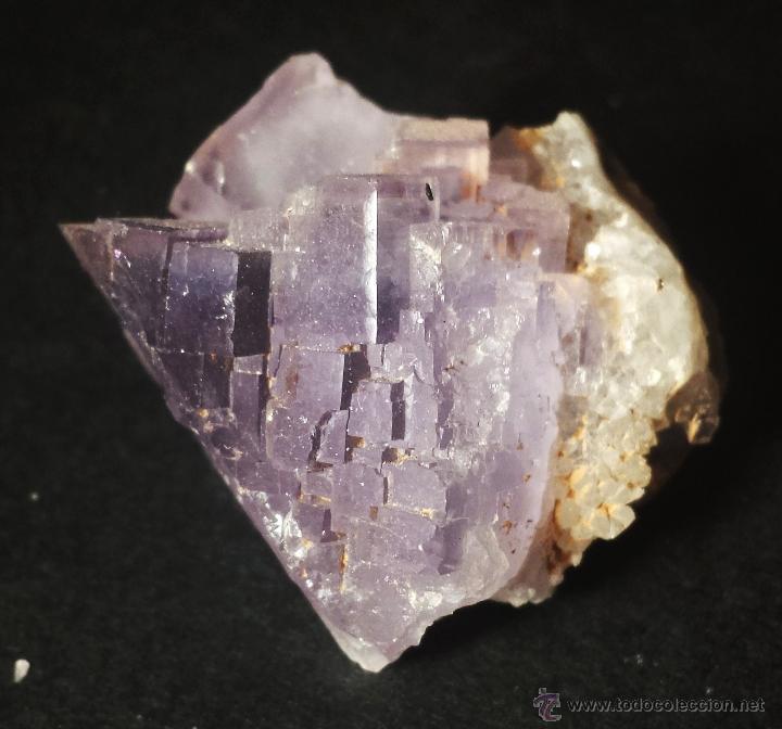 Coleccionismo de minerales: *** MAGNÍFICA CRISTALIZACIÓN DE FLUORITA VIOLETA (BERBES, ASTURIAS) *** - Foto 2 - 39326318