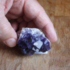 Coleccionismo de minerales: FLUORITA DE ASTURIAS-MORADA-CRISTALIZACIÓN CENTIMÉTRICA-GRAN CALIDAD. Lote 40759243