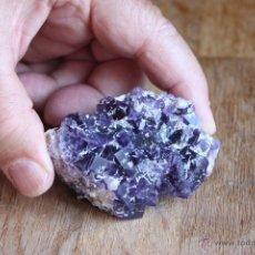 Coleccionismo de minerales: FLUORITA DE ASTURIAS-MORADA-CRISTALIZACIÓN CENTIMÉTRICA-. Lote 40791357