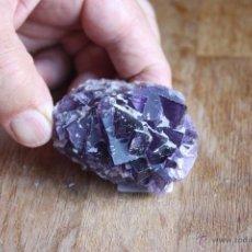Coleccionismo de minerales: FLUORITA DE ASTURIAS-MORADA-CRISTALIZACIÓN CENTIMÉTRICA-GRAN CALIDAD. Lote 40791616