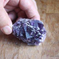 Coleccionismo de minerales: FLUORITA DE ASTURIAS-MORADA-MUCHÍSIMOS CRISTALES CENTIMÉTRICOS-GRANDES CARAS PLANAS. Lote 41227838