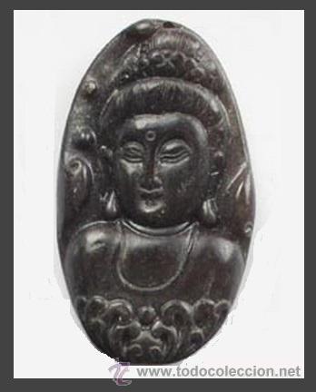 AMULETO DE PIEDRA JADE ANTIGUO CHINA SIGLO XVIII PIEDRA JADE - AMULETO BUDA HINDÚ - COLGANTE ANTIGUO (Coleccionismo - Mineralogía - Otros)