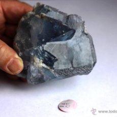 Coleccionismo de minerales: FLUORITA CON ARISTAS TRUNCADAS-COLOR AZUL VIOLETA. Lote 44161559