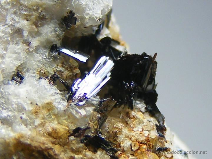 Coleccionismo de minerales: FD MINERALES: GOETHITA ACICULAR SOBRE CUARZO - GUADALAJARA - GUAD 8 - Foto 11 - 45160475