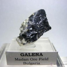 Coleccionismo de minerales - FD MINERALES: GALENA CRISTALIZADA Y CALCITA - MADAN ORE FIELD - BULGARIA - BUL 1 - 46778658