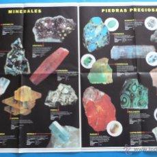Coleccionismo de minerales: GRAN POSTER DE MINERALES Y PIEDRAS PRECIOSAS . Lote 46982746