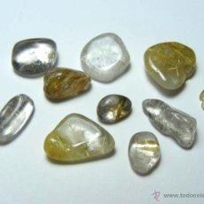 Coleccionismo de minerales: FD MINERALES - LOTE DE 10 CUARZOS CON RUTILO - GEMOTERAPIA - ESOT 48. Lote 48525584