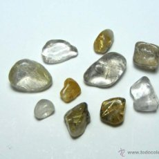 Coleccionismo de minerales: FD MINERALES - LOTE DE 10 CUARZOS CON RUTILO - GEMOTERAPIA - ESOT 49. Lote 173172557