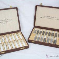 Coleccionismo de minerales: ANTIGUOS MUESTRARIOS DE CORINDÓN ESPAÑOL - MINERAL - PRIMERA MITAD S XX - ESTUCHES P. SETTIER. Lote 48640437