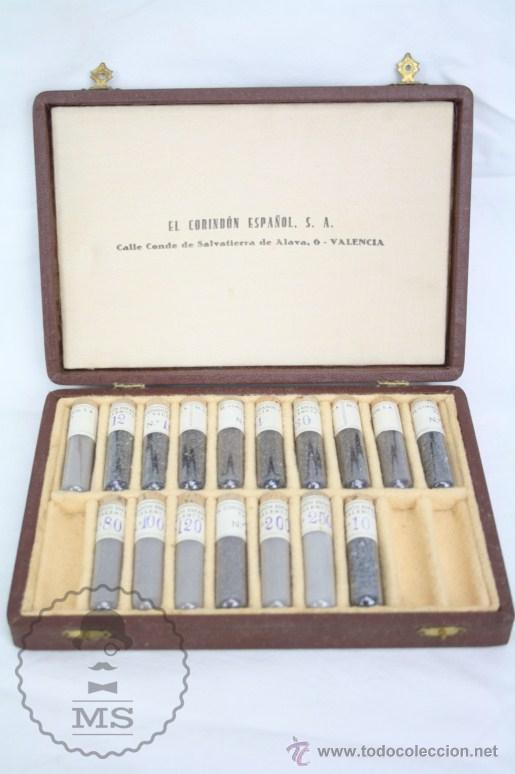 Coleccionismo de minerales: Antiguos Muestrarios de Corindón Español - Mineral - Primera Mitad S XX - Estuches P. Settier - Foto 6 - 48640437