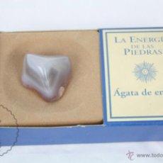 Coleccionismo de minerales: MINERAL / PIEDRA DE COLECCIÓN / FASCÍCULO LA ENERGÍA DE LAS PIEDRAS - ÁGATA DE ENCAJE. Lote 48805992
