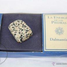 Coleccionismo de minerales: MINERAL / PIEDRA DE COLECCIÓN / FASCÍCULO LA ENERGÍA DE LAS PIEDRAS - DALMANTINO. Lote 48806035