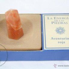 Coleccionismo de minerales: MINERAL / PIEDRA DE COLECCIÓN / FASCÍCULO LA ENERGÍA DE LAS PIEDRAS - AVENTURINA ROJA. Lote 48806358